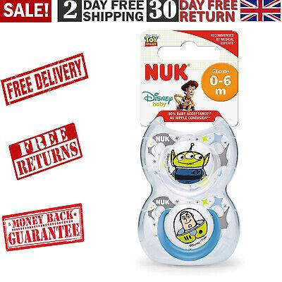 NUK Disney Baby Dummies, 0-6 Months, BPA-Free, Alien & Buzz (Toy Story),...