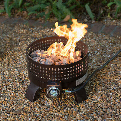 Propane Campfire (Portable Gas Fire Pit Heat Resistant Outdoor Yard Camping Steel Campfire Heater )