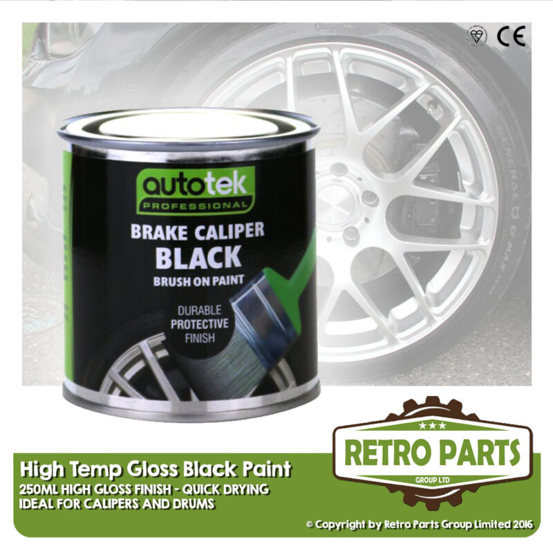 Black Caliper Brake Drum Paint for Lexus. High Gloss Quick Dying