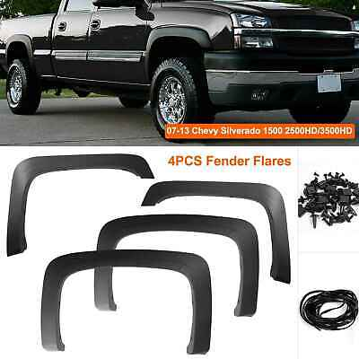 2007-2013 Chevy Silverado 1500/2500HD/3500HD Factory Style Black Fender Flares