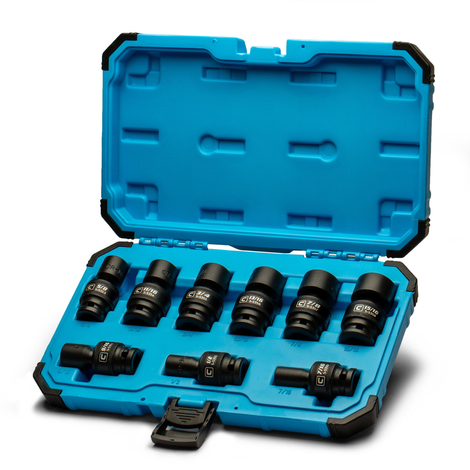 3//8-Inch Drive 6-Point Capri Tools Shallow Socket SAE 1//4 to 7//8-Inch