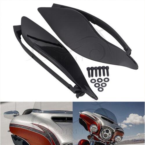 Smoke Adjustable Fairing Air Deflectors for Harley Batwing 2014 Street Glide