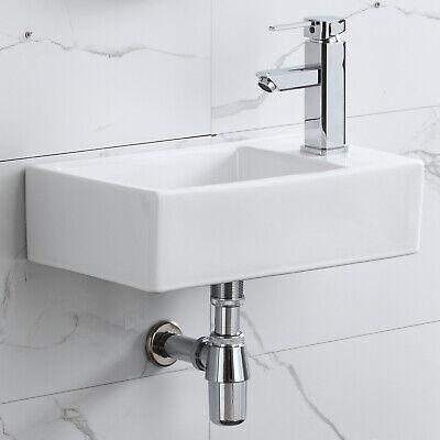 Corner Sink - Corner Wall Mount Bathroom Sink Ceramic Porcelain Toilet Lavatory Bowl