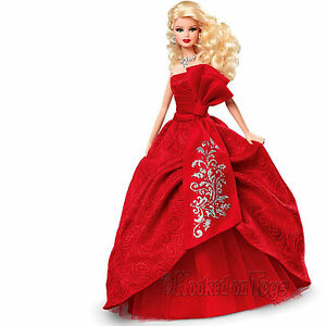 2012-Holiday-Barbie-Doll-Blonde-with-Red-Christmas-Dress-Mattel-W3465