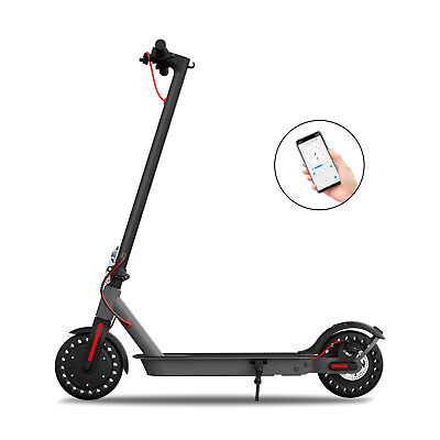 "Hiboy S2 Electric Scooter Folding 17 Miles 18.6 MPH Commute 8.5"" Solid Tires APP"