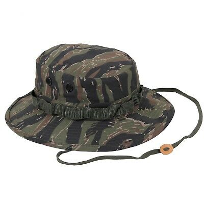 Wide Brim Boonie Hat Tiger Stripe Camouflage Military  Rothco 5816 Brand New
