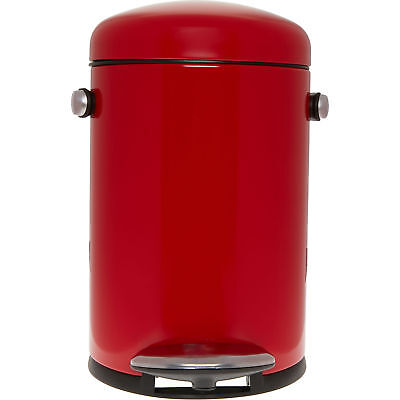 SIMPLEHUMAN RED RETRO PEDAL BIN 4.5L -