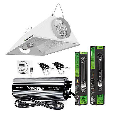 VIVOSUN Grow Light Kit 400/600/1000 Watt HPS MH Air Cooled Hood Set for Plant US 400 Watt Mh Cool