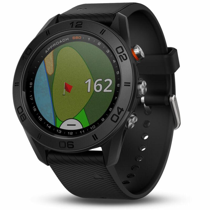 Garmin Approach S60 Golf Watch Black with Black Band