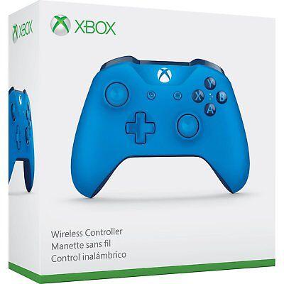 Xbox One Wireless Controller: Blue [XBONE Microsoft Windows 10 Wireless Remote]