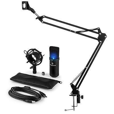 auna MIC-900B-LED USB Mikrofonset V3 Kondensatormikrofon + Mikrofonarm Niere LED 900 Usb