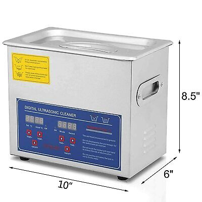 3l Heated Ultrasonic Cleaner W Timer Heater Stainless Steel Basket Us Stock
