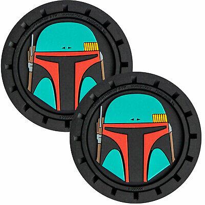 Plasticolor Star Wars Boba Fett Car Coaster, 2x Boba Fett Cupholder Coasters
