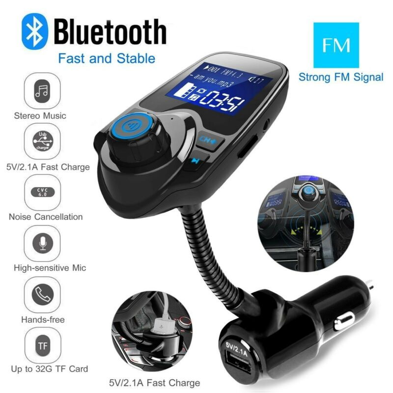 Nulaxy 1.44 LCD Wireless Bluetooth FM Transmitter In-Car Rad