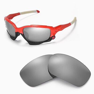 33c40c4d9611 New WL Polarized Titanium Replacement Lenses For Oakley Racing Jacket  Sunglasses