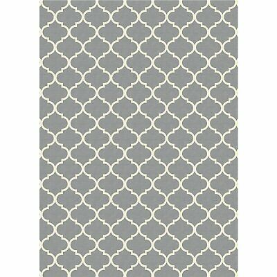 Ruggable Washable Moroccan Trellis Light Grey 5' x 7' Stain Resistant -