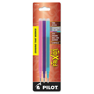 Pilot Refill For Frixion Erasable Gel Ink Pen Assorted 3pk 77336