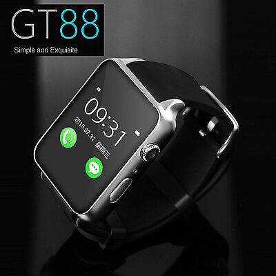 Waterproof GT88 NFC Bluetooth Capable Watch Phone Mate For iphone Android White