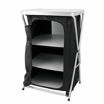 Lightweight Camping Cabinet Travel Foldable Cupboard Storage Wardrobe Tent