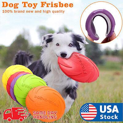 Dog Toy Flyer Flexible Durable Frisbee Disc LARGE Chew Fetch (Dog Flexible Chews)