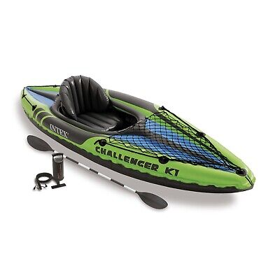 Intex K1 Challenger Inflatable Kayak for One Person - Multi-Colour BNIB