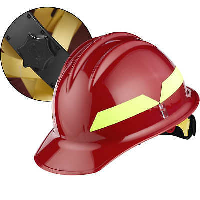 Red Cap Bullard Wildland Fire Helmet With Ratchet Suspension