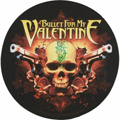 Large Bullet For My Valentine Pistols Woven Sew On Battle Jacket Back Patch