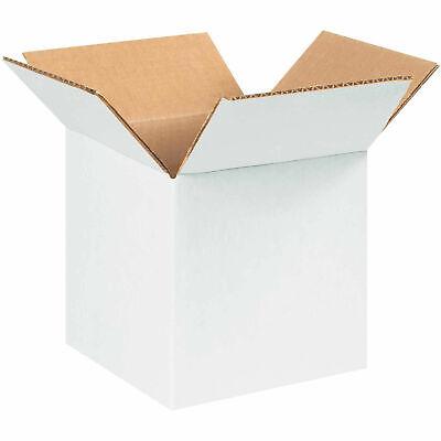 5 X 5 X 5 White Cardboard Corrugated Box 65 Lbs Capacity 200ect-32 Lot