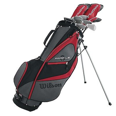 Graphite Stand Bags - Wilson Profile XD Men's RH Flex Graphite Steel Golf Club Stand Bag Package Set