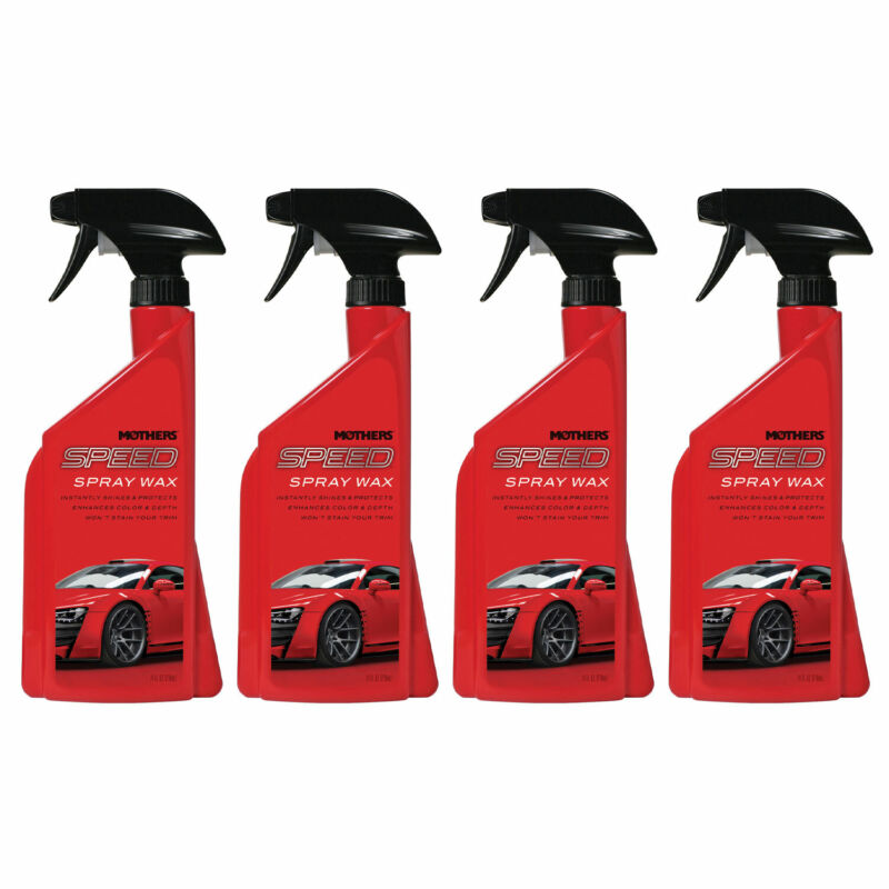 Mothers Polish 24 Oz Bottle of Speed Spray Wax for Automobile Exteriors (4 Pack)