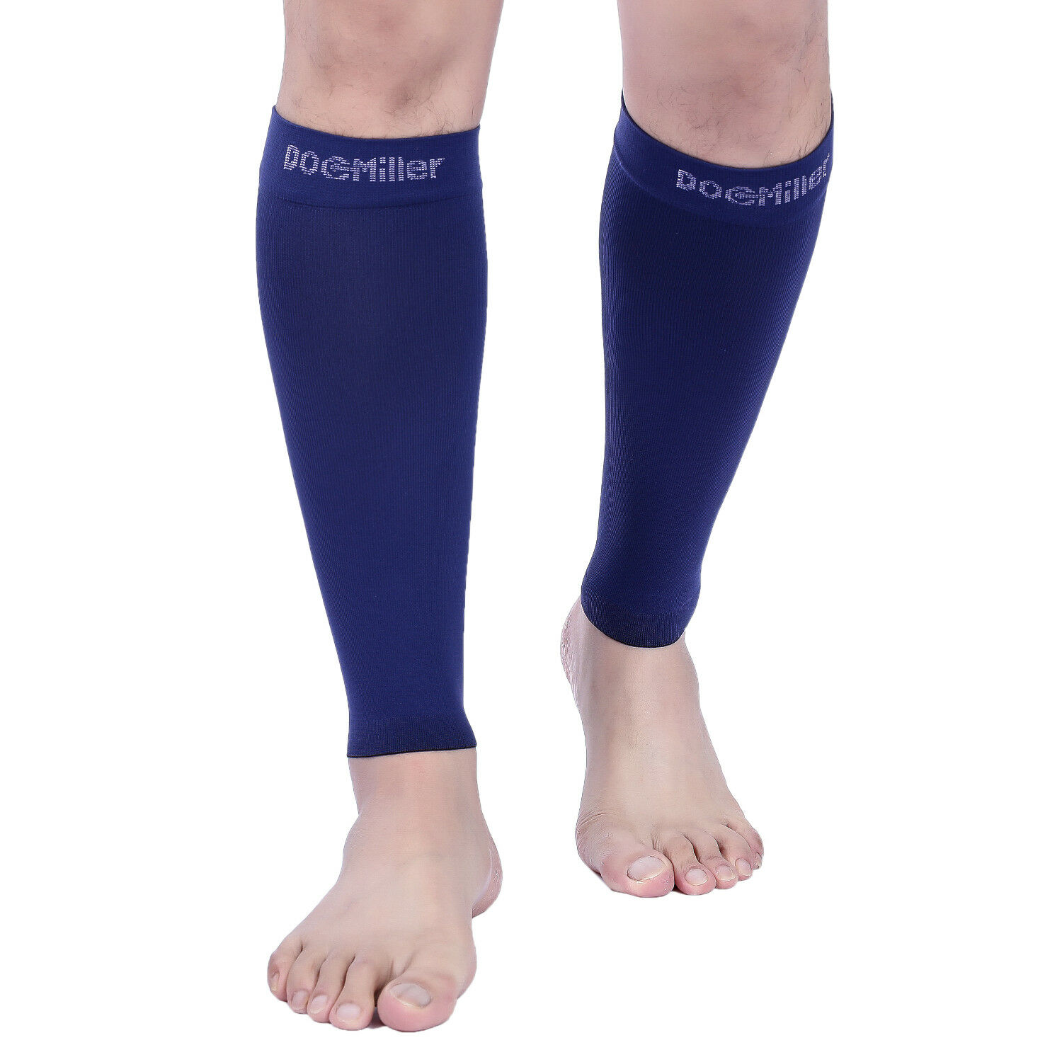4735ea6a50587 Doc Miller Calf Compression Sleeve 1 Pair 20-30mmHg Varicose Veins Recovery  DARK BLUE
