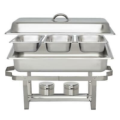 Catering Stainless Steel Chafing Dish 3 L 3.2 Quart Rectangular Buffet Chafer