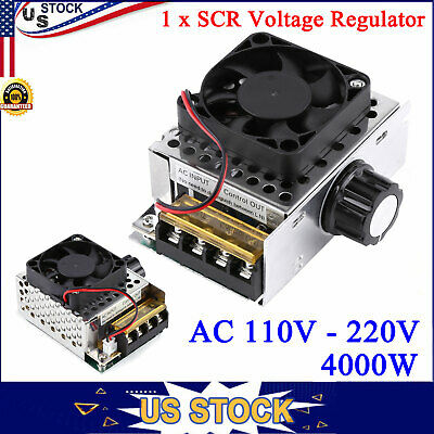 Ac 110v-220v 4000w Scr Motor Speed Controller Electric Voltage Regulator Dimmer