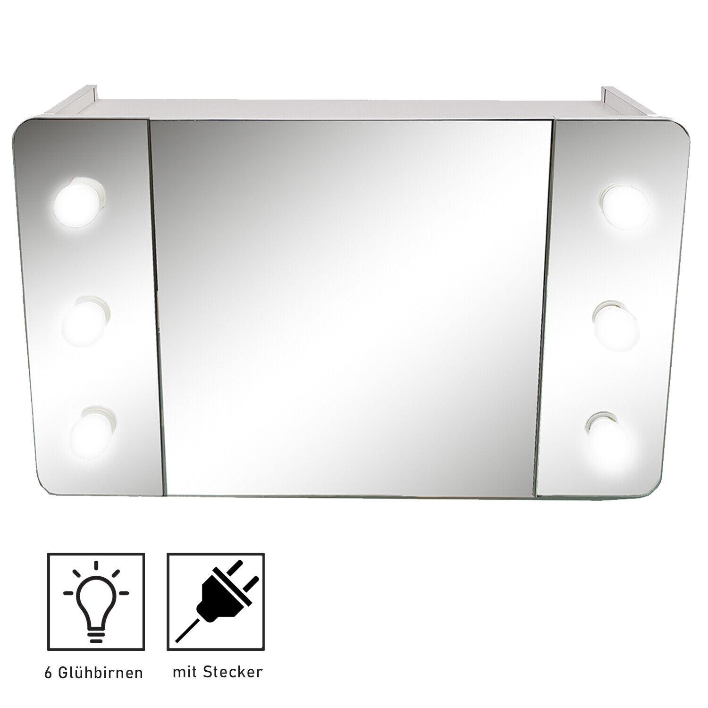 Allibert Badezimmer Schrank Spiegel Licht Hängeschrank Spiegelschrank Weiß Ebay