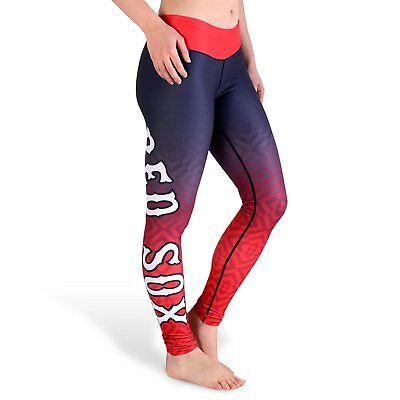 Boston Red Sox Women's Gradient Print Leggings By Klew Tights Yoga Pants