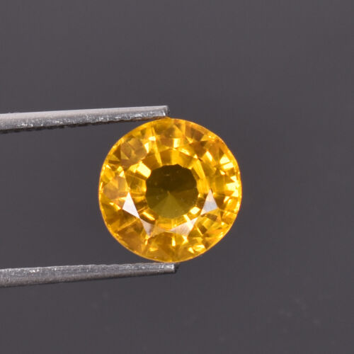6.00 Ct Natural Oregon Flawless Sunstone Yellow Golden Color Certified Gemstone