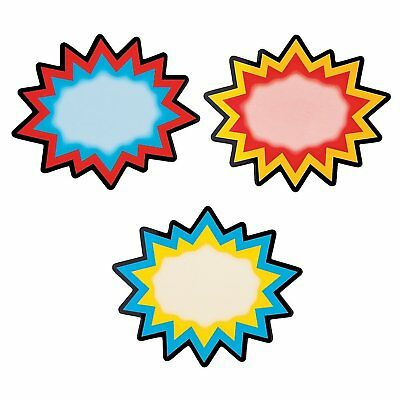 Coated Paper Superhero Dry Erase Magnets 12 Pack 4 X 3 12