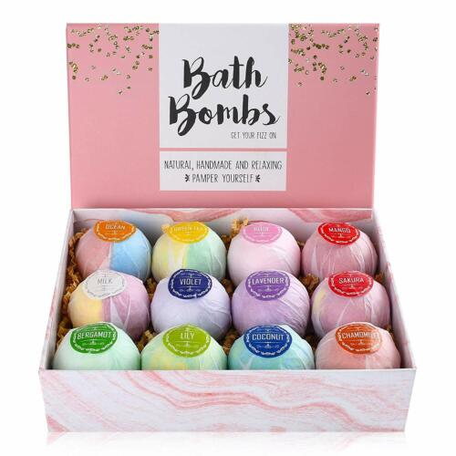 Bath Bombs Set Lot of 12, 2.5 OZ Bath Bomb Fizzy Fizzies Valentine
