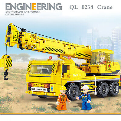 Technic Engineering Series Crane Model Assemble Bricks Kids Educational Toy Gift
