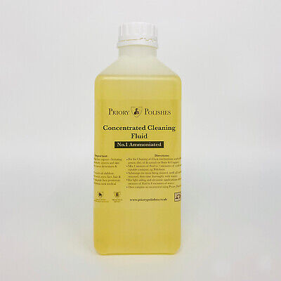 BRASS/CLOCK CLEANING CONCENTRATE SOLUTION NO 1  (1 LITRE )