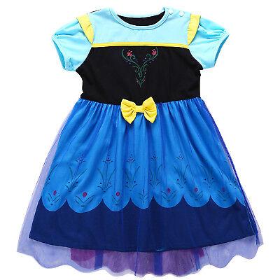 Kids Frozen Elsa Anna Toddler Bady Girl Princess Dress Cosplay Party Costume - Toddler Anna Costume