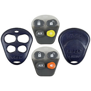 New Dei Viper EZSDEI474V Remote Keyless Fob Shell Replacement Case 4 Button Pad