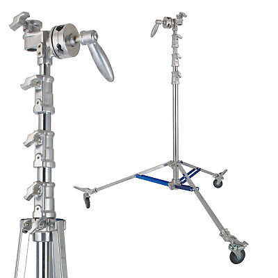 Overhead Roller Stand with Caster Wheels Adjustable Large Mount Photo Studio Studio Roller Stand