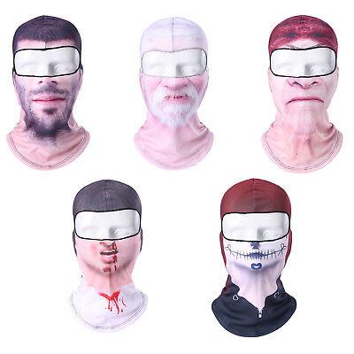 Realistic Person Creepy Scary Ski Motorcycle Bike Winter Face Mask Balaclava NEW (Creepy Face Mask)