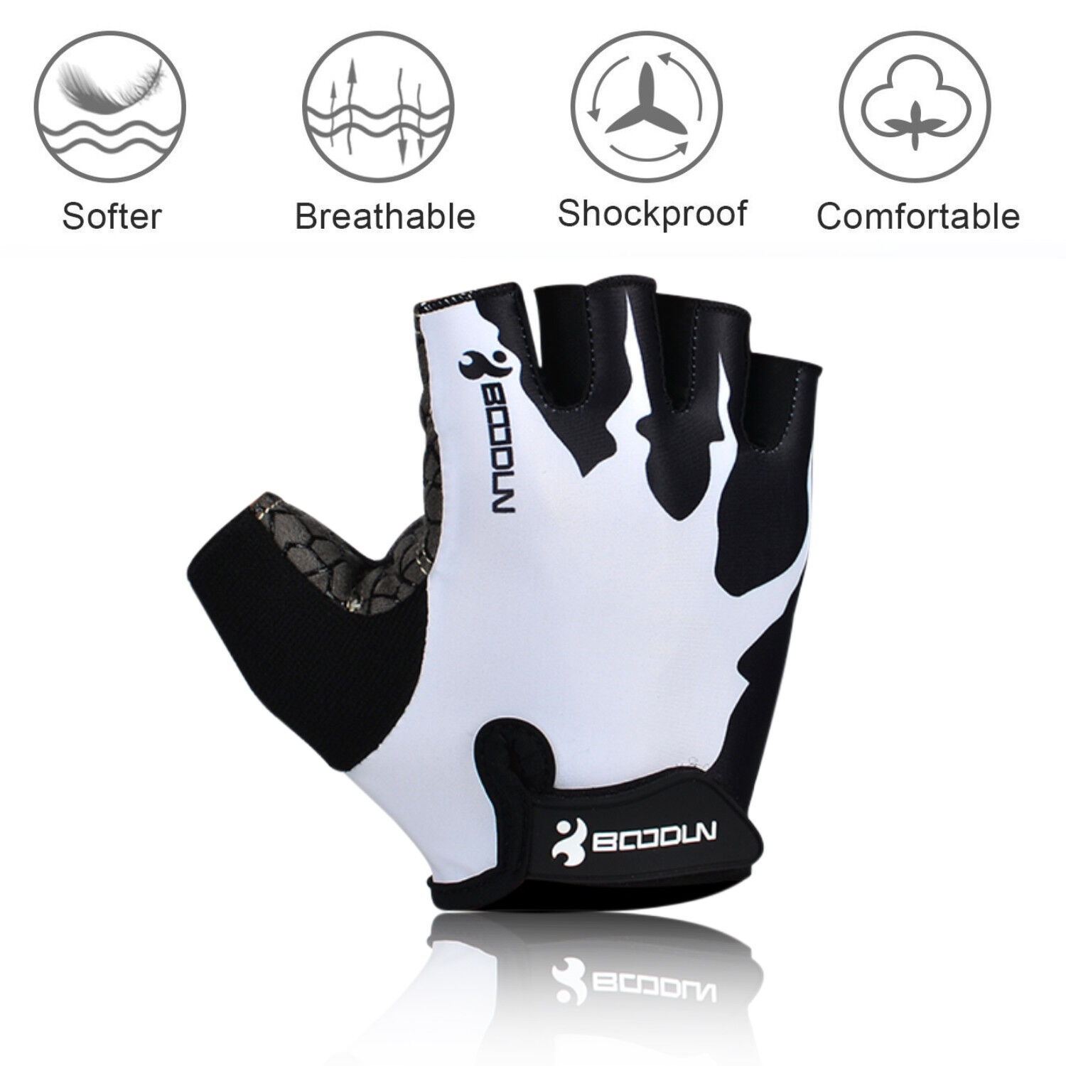 Sport Cycling Gloves Half Finger Bicycle Gel Pad MTB Road Bi