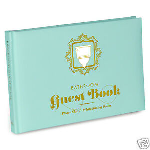Bathroom guest book ebay for Z gallerie bathroom guest book
