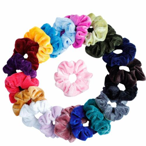 20 Pack Women Girl Hair Scrunchies Velvet Elastic Hair Bands Scrunchy Rope Ties Clothing, Shoes & Accessories