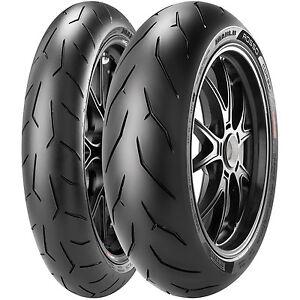 New-Pirelli-Diablo-Rosso-Corsa-Front-amp-Rear-Tires-190-55-ZR-17-amp-120-70ZR-17