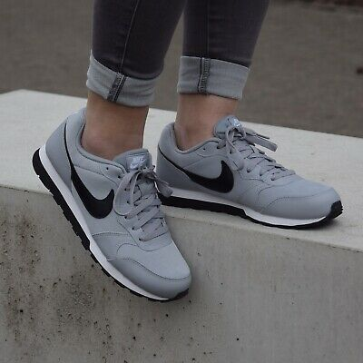 Grau Kinder Schuhe (Nike MD Runner 2 (GS) Schuhe Sneaker Kinder 807316 003 Grau)