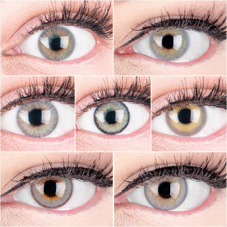 Sehr stark deckende und natürliche graue Kontaktlinsen SILIKON KOMFORT PREMIUM